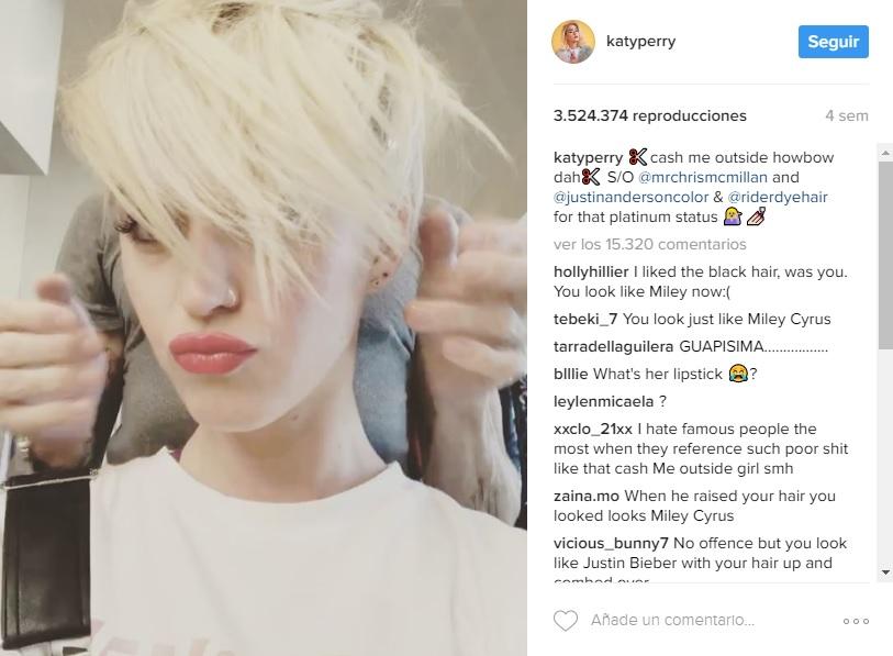 Katy Perry y su nuevo look, post separación